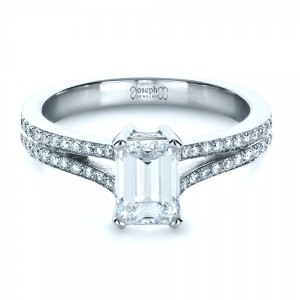 Custom Radiant Cut Diamond Engagement Ring