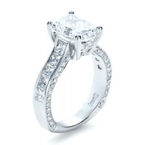Custom Radiant Cut Engagement Ring - Image