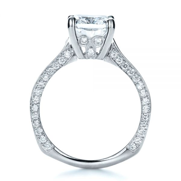 Custom Radiant Cut Engagement Ring - Front View -  1317 - Thumbnail