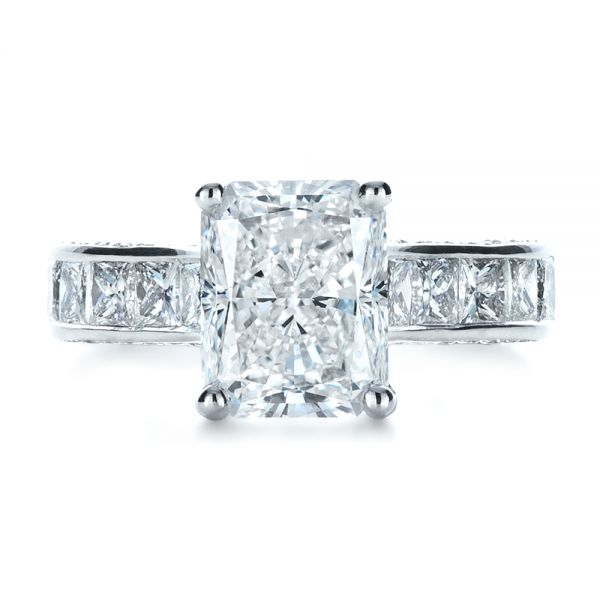 Custom Radiant Cut Engagement Ring - Top View -  1317 - Thumbnail