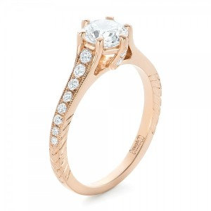 Custom Rose Gold Diamond Engagement Ring