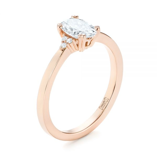 Custom Rose Gold Diamond Engagement Ring - Image