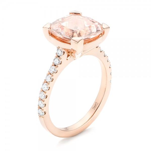custom gold morganite and engagement ring 102933