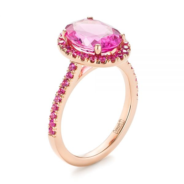 diamond cut pink rings antique engagement style halo with cushion diamonds bridal real