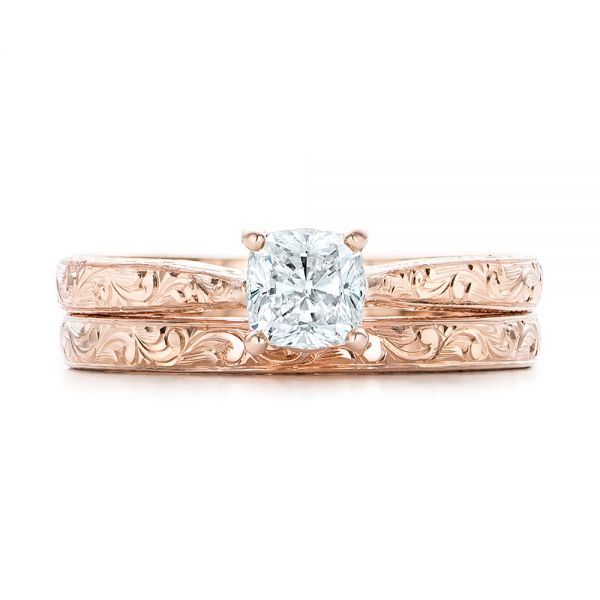 Custom Rose Gold Solitaire Diamond Engagement Ring - Image