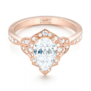 Custom Rose Gold and Diamond Engagement Ring