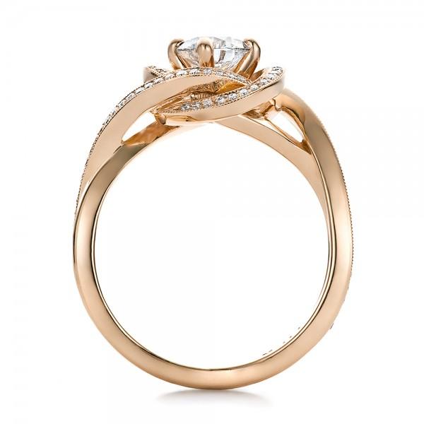 Custom Rose Gold and Diamond Engagement Ring