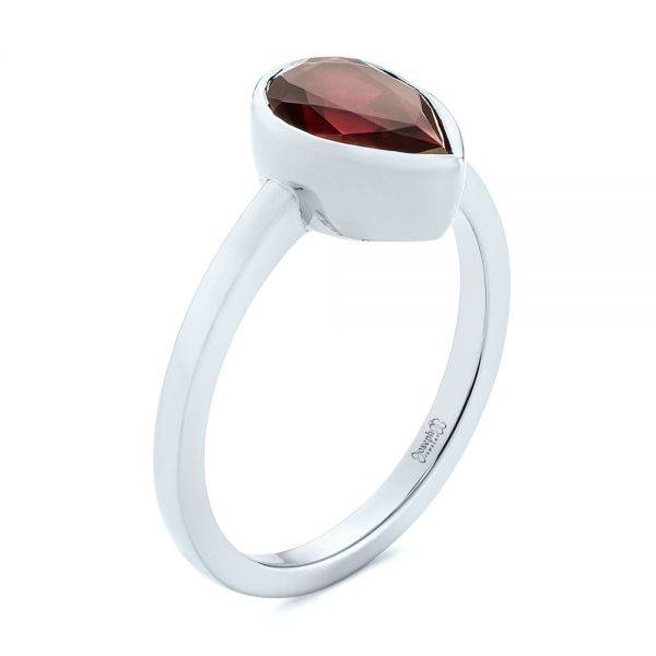 Custom Ruby Solitaire Engagement Ring - Image