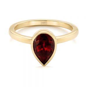 Custom Ruby Solitaire Engagement Ring