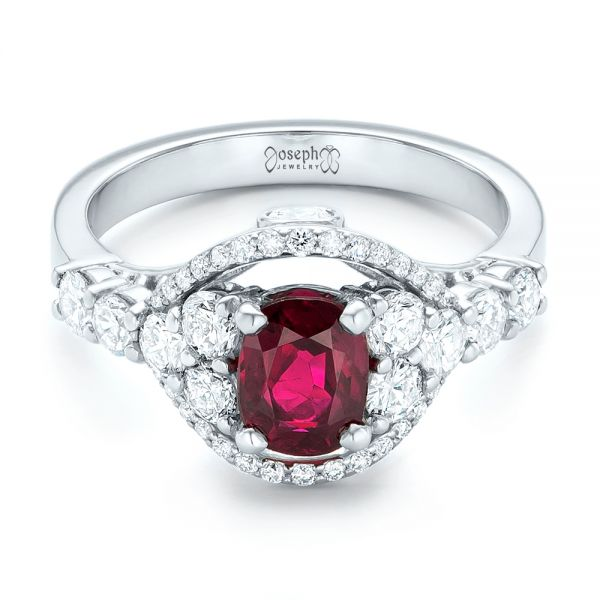 Custom Ruby And Diamond Engagement Ring 102900 Seattle