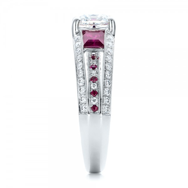 Custom Ruby And Diamond Engagement Ring #101458