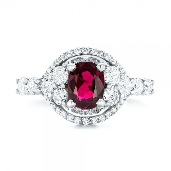 Custom Ruby And Diamond Engagement Ring 102900