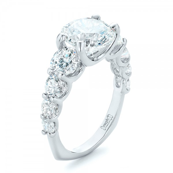 Custom Shared Prong Diamond Engagement Ring