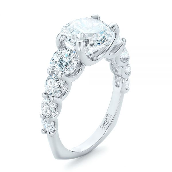 Custom Shared Prong Diamond Engagement Ring - Image
