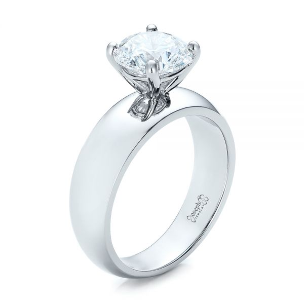 Custom Solitaire Diamond Engagement Ring - Image
