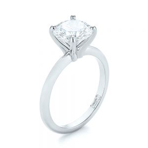 Custom Solitaire Diamond Engagement Ring