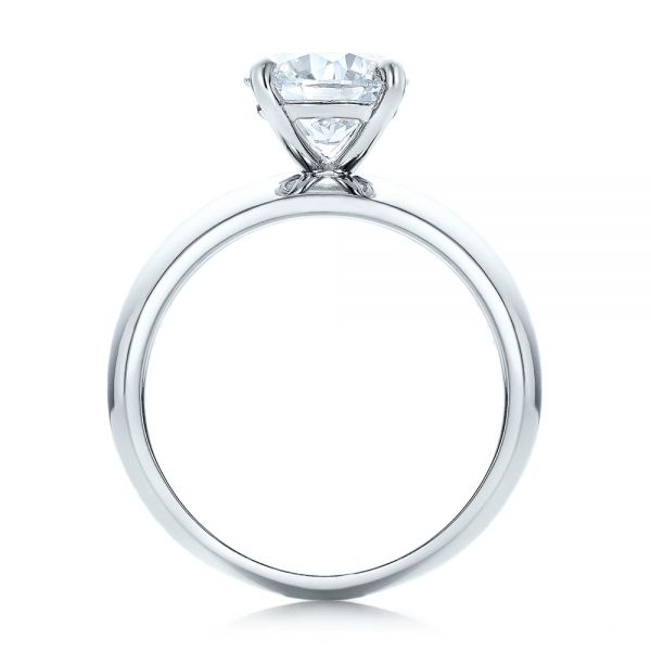 Custom Solitaire Diamond Engagement Ring - Front View -  102030 - Thumbnail