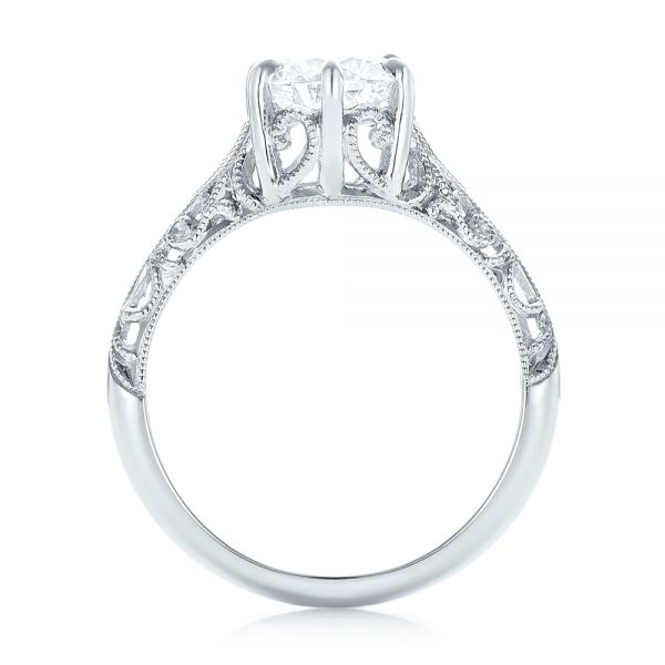 Custom Solitaire Diamond Engagement Ring - Front View -  102952 - Thumbnail