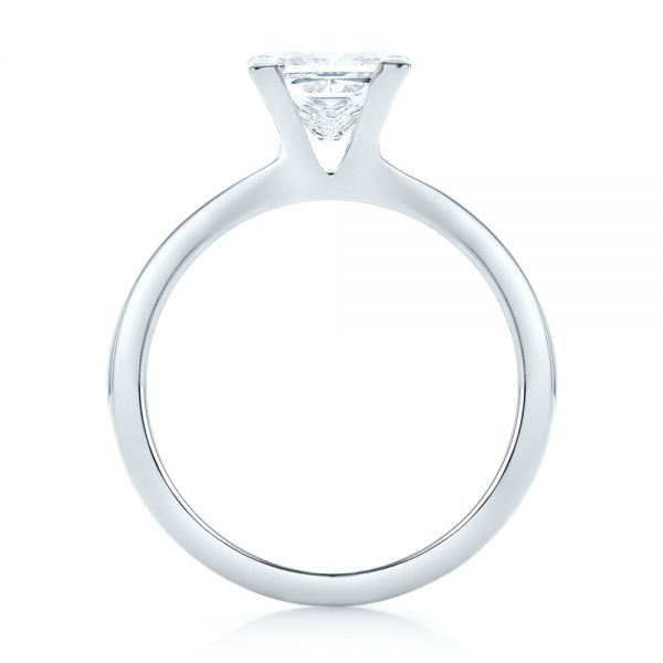 Platinum Platinum Custom Solitaire Diamond Engagement Ring - Front View -