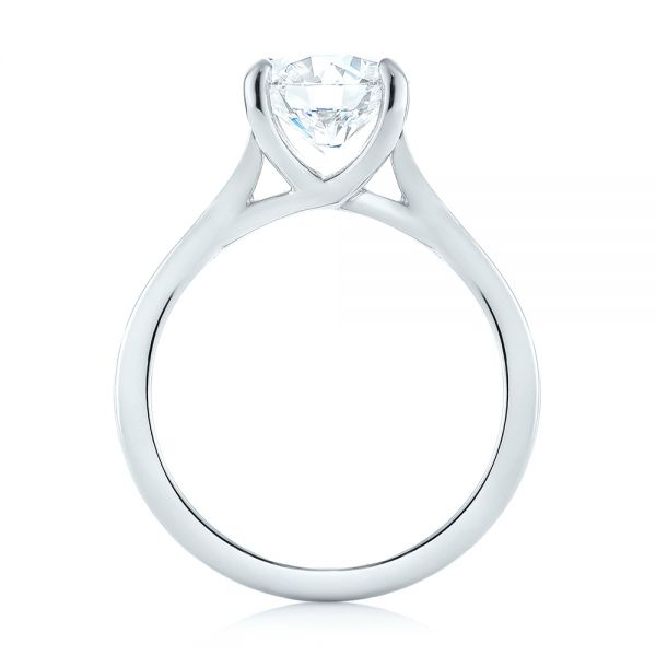 Custom Solitaire Diamond Engagement Ring - Front View -  103356 - Thumbnail
