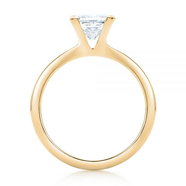 18k Yellow Gold 18k Yellow Gold Custom Solitaire Diamond Engagement Ring - Front View -