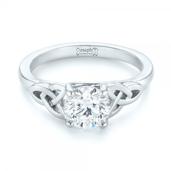 Custom Solitaire Diamond Engagement Ring - Laying View