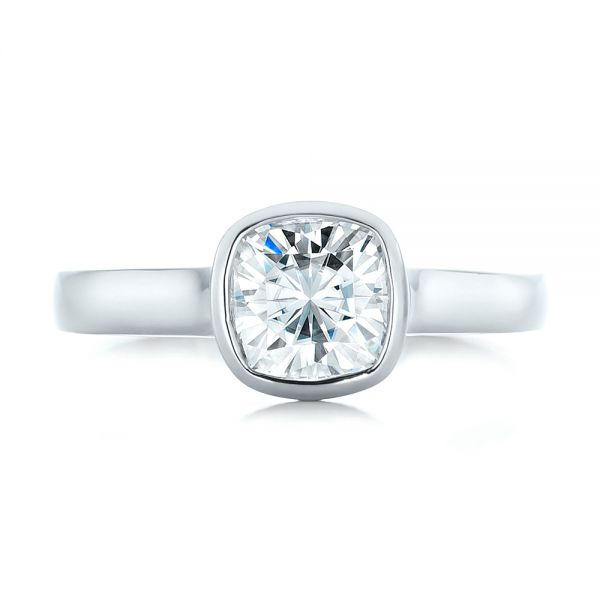 Custom Solitaire Engagement Ring - Top View -  102154 - Thumbnail
