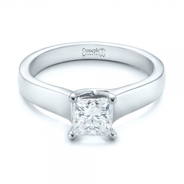 Custom Princess Cut Solitaire Engagement Ring