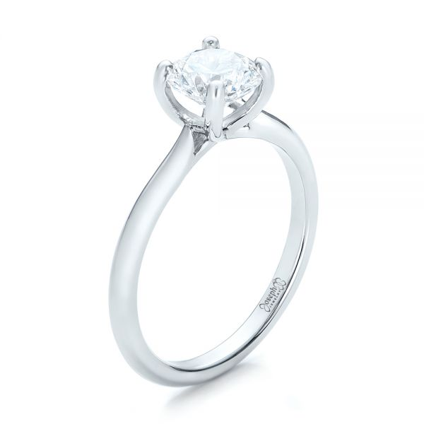 Custom Solitaire Engagement Ring with Tapered Shank - Image