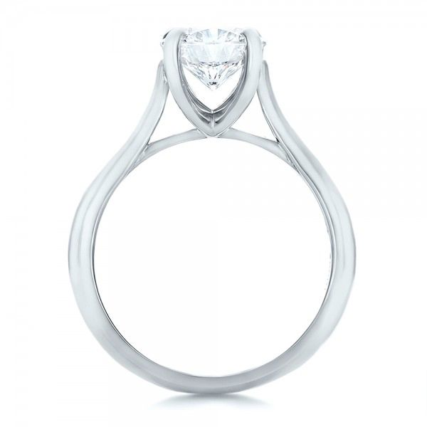 Platinum Custom Solitaire Engagment Ring - Front View -