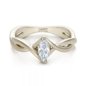 Custom Solitaire Marquise Diamond Engagement Ring