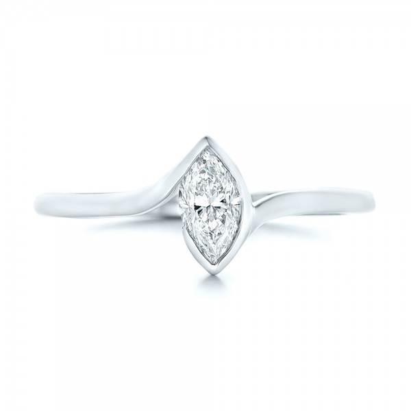 custom solitaire marquise engagement ring 102906