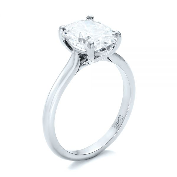 Custom Solitaire Moissanite Engagement Ring - Image