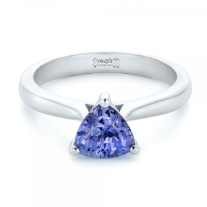 Custom Solitaire Purple Sapphire Engagement Ring