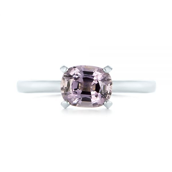 Platinum Custom Solitaire Spinel Gemstone Engagement Ring - Top View -  104660