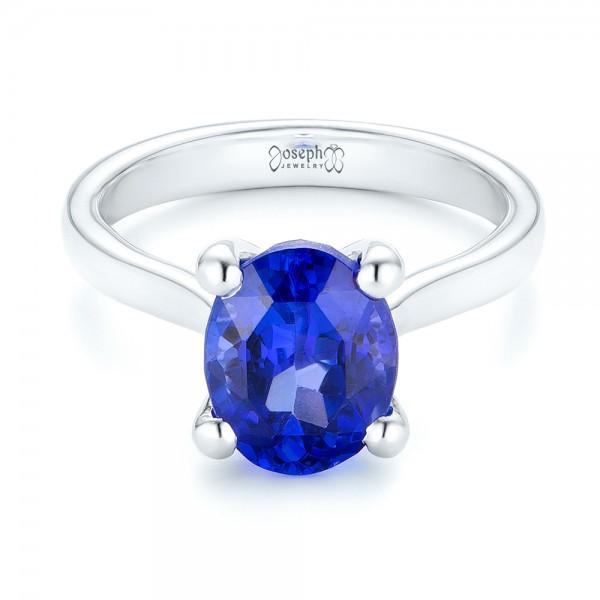Custom Solitaire Tanzanite Engagement Ring - Laying View