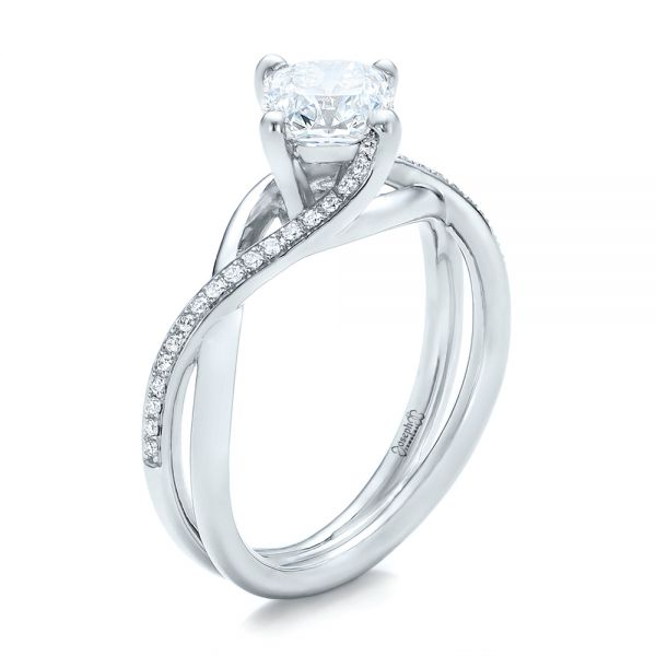 Custom Split Shank Diamond Engagement Ring - Image