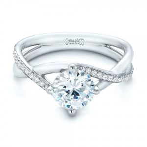 Custom Split Shank Diamond Engagement Ring