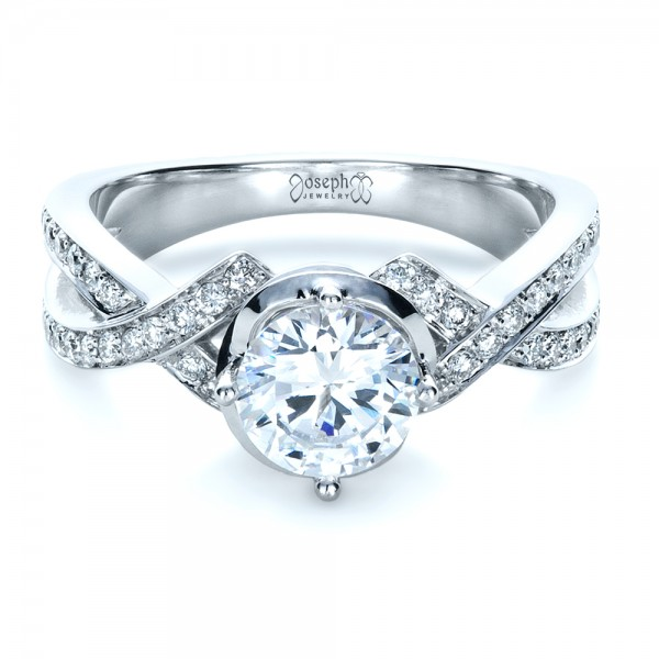 Custom Split Shank Diamond Engagment Ring