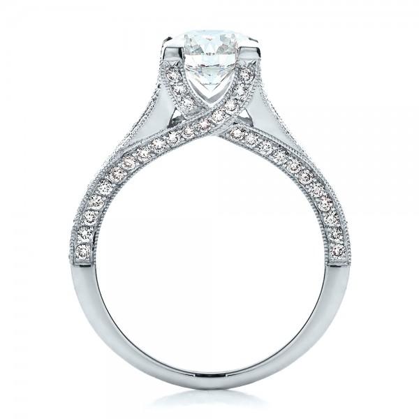 Jewelry engagement rings custom split shank engagement ring