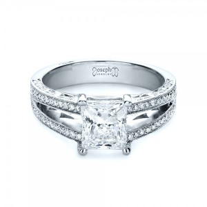 Custom Split Shank Princess Cut Engagement Ring