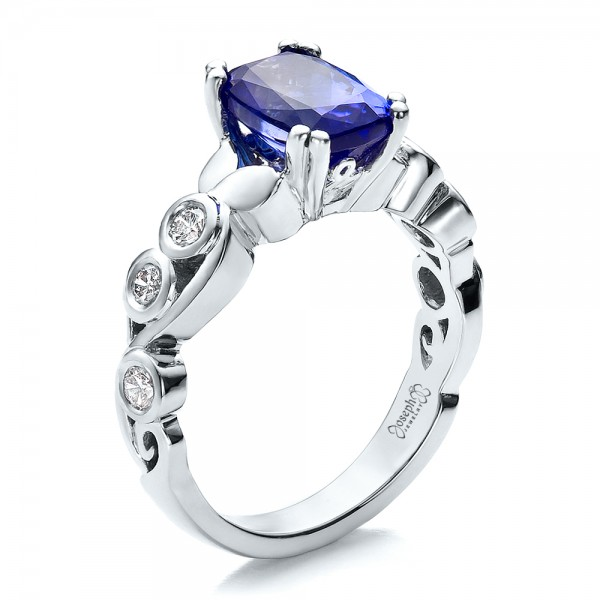 and engagement diamond tanzanite custom ring rings