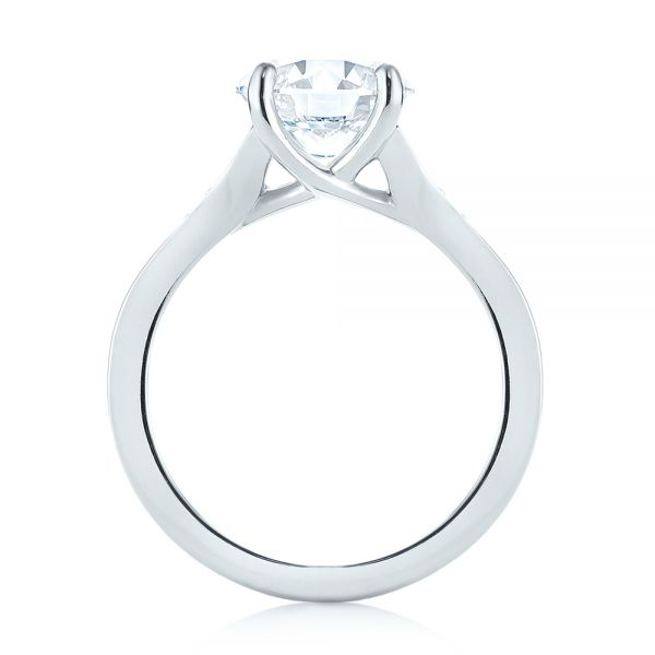 Custom Tapering Diamond Engagement Ring - Front View -  103339 - Thumbnail