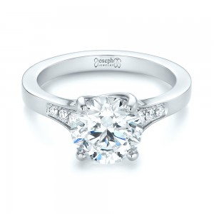 Custom Tapering Diamond Engagement Ring