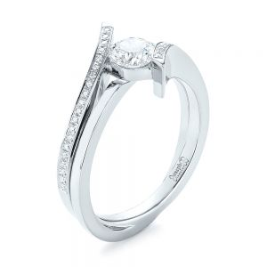 Custom Tension Style Diamond Engagement Ring - Image