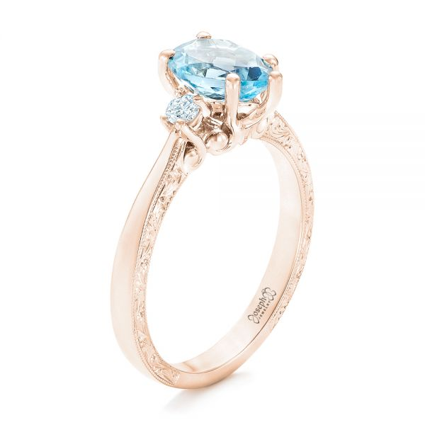 14 k Rose Gold Aquamarin Ring