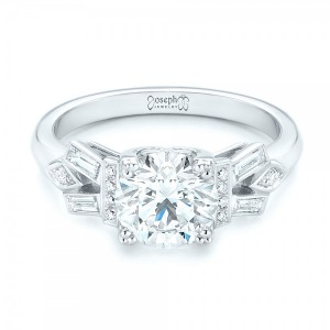 Custom Three Stone Diamond Engagement Ring
