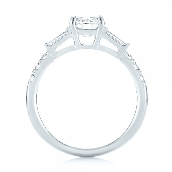Platinum Custom Diamond Engagement Ring - Front View -  103521