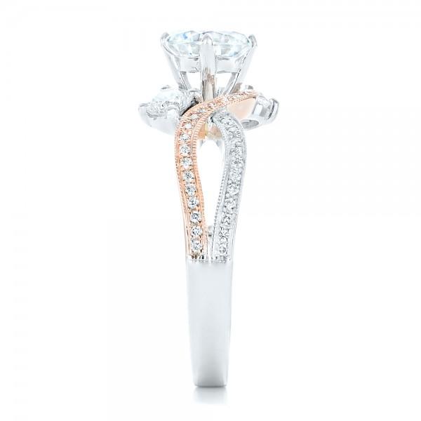 Three Stone Diamond Engagement Ring - Side View