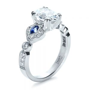 Custom Three Stone Engagement Ring - Image